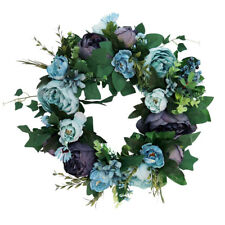 Artificial Peony Flower Door Wreath Rattan Garland Wedding Decor