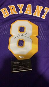 Kobe Bryant autographed lakers jersey with COA