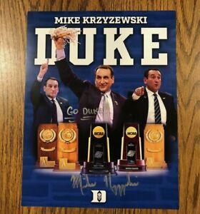Mike Krzyzewski (Coach K) Autograph Autographed Signed Photo DUKE BASKETBALL B
