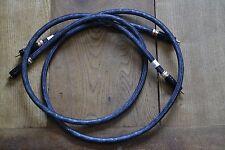 QED QUNEX Argento Spirale SPOFC COPPIA RCA-RCA Tappi Di Bloccaggio 1.m