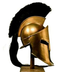 SPARTAN HELMET KING LEONIDAS 300 MOVIE REPLICA HELMET MEDIEVAL HELMET W STAND