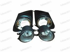 Clear Bumper Fog Lights Lamps+Covers Kits For Toyota Corolla 2011-2012