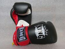 Gants de boxe KING Noir/Rouge 12oz boxing gloves (Fairtex, TWINS, Yokkao)