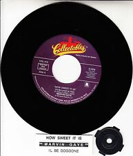 MARVIN GAYE  How Sweet It Is (To Be Loved By You) 45 record + juke box strip NEW