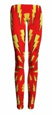 DC Comics FLASH Lightning Bolt Logo Yoga Pants OSFM Leggings