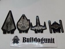 2015 Star Wars 6 in 1 Games Replacement All 4 Paper Starships Parts Only
