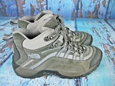 THE NORTH FACE Gray Suede Hiking Trail Mid Boots Shoes Women's Size: 9
