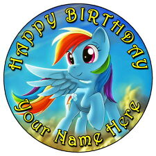 "My Little Pony Rainbow Dash Partido - 7.5 ""Personalizadas Comestibles Glaseado Cake Topper"