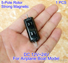 DC 12V 24V Strong NdFeB Magnetic 5-Pole Rotor Micro Mini Carbon Brush Motor Toy