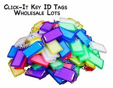 Key Id Labels Tags Split Key Ring Key Chain Name Tag Click-It Wholesale Lots Usa