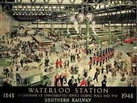 ADVERT TRAVEL TRANSPORT WATERLOO TRAIN CENTENARY UK POSTER ART PRINT BB2170B