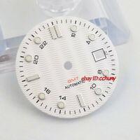 31mm sterile white watch Dial Fit ETA 2836/2824 DG2813/3804 Miyota 8215 821A