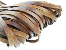 Lederband (ab 1,8€/m) Flach 10 x 2,5 mm. Antik Braun Lederriemen. Länge: wählbar
