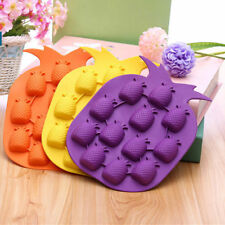 Pineapple Shape Silicone Ice Cube Tray Mould Soap Fruit Chocolate Mold Pack of 4