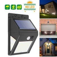 Solar Motion Sensor Light with Separable Panel 40LED Garden Outdoor Wall Lamp