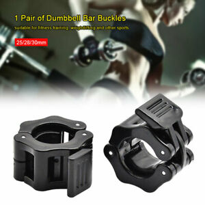 2Pcs 25/28/30MM Spinlock Collars Barbell Dumbbell Clips Clamps Weight Bar Locks