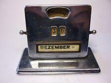 Antique German Metal Desk Perpetual Calendar Date Display 1900`s