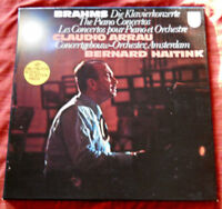Claudio Arrau-Brahms Piano Concertos 1 & 2-B. Haitink-2 LPs-Philips Holland