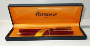 Waterman Paris Fountain Pen and Pencil Set w/Case