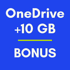 OneDrive +10GB Bonus- Increase existing cloud storage size. Fast delivery