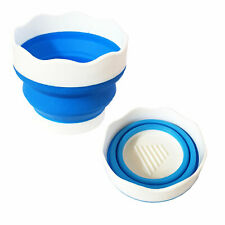 Pop Up Collapsible Soft Plastic Water Pot Brush Washer 9.5 cm (Small)