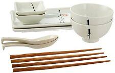 10 Piece Japanese Dinnerware Set Enzo Design, White, NEW IN BOX