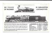 *(O)1933 Chicago World's Fair PC 50 Years Of Progress In Burlington Lociomotives
