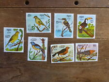 CAMBODIA 1985 ARGENTINA '85 STAMP EXPO BIRDS SET 7 MINT STAMPS