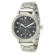 NEW! Fossil Mens The Major Silver Stainless Steel Chronograph Gents Watch CH3082