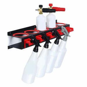 Spray Bottle Storage Rack Abrasive Material Hang Rail Detailing Tool Organizer
