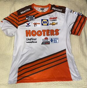Chase Elliott 2021 #9 Hooters Throwback Sublimated Pit Crew Tee XXL 2XL