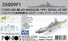 Pontos Model 1/350 BB-63 Missouri 1991 Detail set for Tamiya BB-62 New Jersey