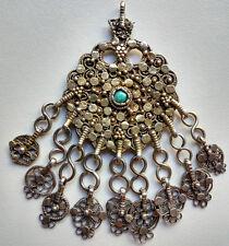 Ancienne Amulette Médaillon en argent du Rajasthan 19e