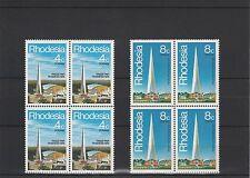 RHODESIA - 1978 - TRADE FAIR BULAWAYO - BLOCKS OF 4 - SETS (2V) - MNH