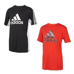 adidas Boys' Youth Performance Tees, 2-Pack - BLACK, RED (Select Size: S-XL)