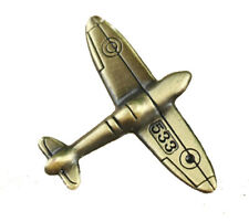 Spitfire Plane Aeroplane Gift Tie Lapel Pin Badge Brooch antique bronze colour