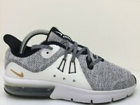 Nike Max Sequent 3 Grey Textile Trainer 922884-007 Women Size UK 5.5 Eur 38.5