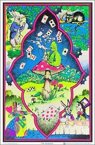 Wonderland Blacklight Poster 23 x 35