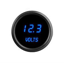 52mm 2 1/16 in Digital VOLTMETER Intellitronix Blue LEDs Black Bezel Warranty!!