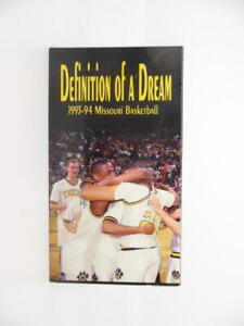 """""""Definition of a Dream"""" 1993-94 Missouri Basketball VHS Tape 1994 Learfield Comm"""