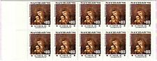 CHILE, CHRISTMAS 1994, STAMP BOOKLET WITH 10 STAMPS, MINT NEVER HINGED