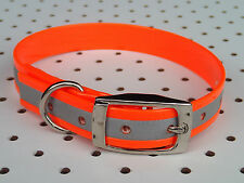 "TERRIER, WHIPPET Dog Collar 16""x3/4""  - Hunting,  Fox, Pig dog, Pet REFLCTIVE"