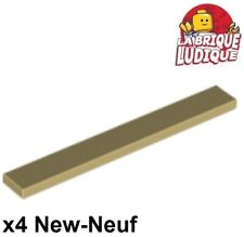 Lego - 4x Tile Plate Smooth 1x8 with Groove Beige/Tan 4162 New