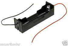 "18650 Black Plastic Case Battery box Storage Holder with 6"" wire 1x18650 battery"