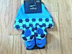Nike Newborn 100% Cotton 2-Piece Set -  Cap and Booties for Ages 0-6 Months