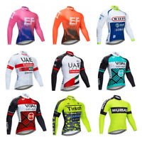 Mens Long Sleeve Cycling Jersey Jacket Bike Bicycle Suit Breathable