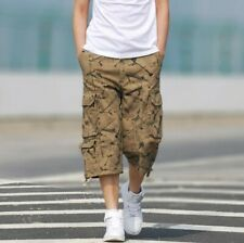 Summer Men Camouflage Cargo Shorts Pants Multi-pocket Loose Fit Straight Chic L