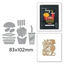 Fast food fries burger coke Set Cutting Dies Stencil For Scrapbooking Embossing