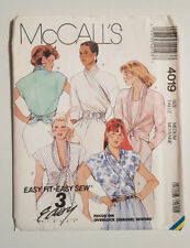 Mc-4019 Wrap Top Blouse Sewing Pattern McCall's Medium 14-16 Cut & Complete