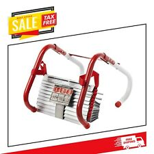 Emergency Two Story Fire Ladder 13 Ft Safety Window Escape Non Slip Tangle Free
